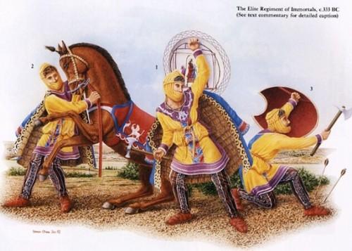 Istorija odevnih predmeta - Page 4 Persian-immortals-elite-immortals-in-action-e1321555833467