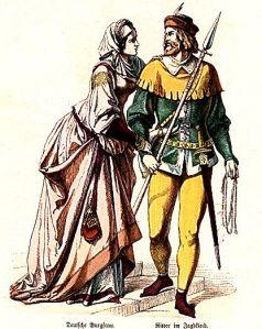 Istorija odevnih predmeta - Page 5 German-chatelaine-knight-in-hunting-dress