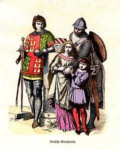 Istorija odevnih predmeta - Page 5 German-knight-and-family