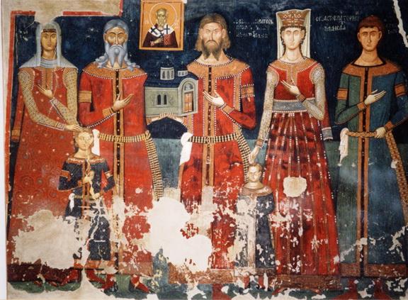 Moda  u Srbiji kroz vekove Ktitori-manastir-psaca