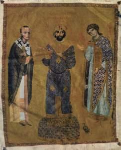 Istorija odevnih predmeta - Page 4 Manuscript-illumination-of-emperor-nicephorus-iii-botaniates-1078-81-flanked-by-st-john-chrysostomos-and-the-archangel-michael