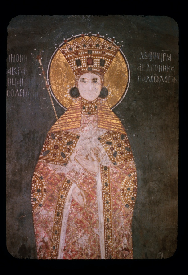Gračanica, Kraljica Simonida Simonida (1294?-1340?), ćerka vizantijskog cara Andronika II Paleologa (r. 1282-1328), četvrta žena kralja Stefana Uroša II Milutina (r. 1283-1321) (slika preuzeta sa http://hdl.handle.net/1811/39355