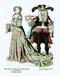 Istorija odevnih predmeta - Page 6 Maria-anna-of-bavaria-as-crown-princess-of-france-court-dress-1679-young-dandy-1670
