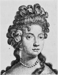 Istorija odevnih predmeta - Page 6 Ribbon-bows-c3a0-la-fontange-on-the-top-of-the-head-called-duchesse-1682-3