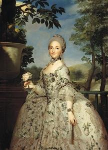 Istorija odevnih predmeta - Page 6 Ca-1765-maria-luisa-of-parma-princesa-de-asturias-by-anton-rafael-mengs-coleccion-real