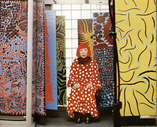 Yayoi Kusama in British Vogue, 2012.  Photo: Norbert Schoerner