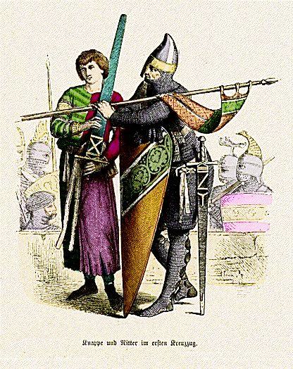 Paž i vitez u I krstaškom ratu, XI vek