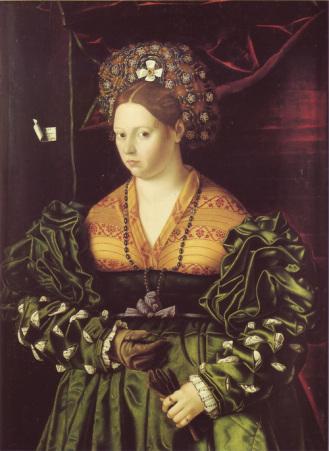 Bartolomeo Veneto - Portret plamkinje