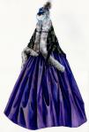 Za Anino putovanje vozom do Moskve, Daran je napravila kopiju ogrtača ukrašenog paunovim perjem iz V&A muzeja.  Za paunovo perje, koga ima i na Aninom šeširu, se smatra da nosi lošu sreću.