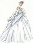 Posle razvoda od Alekseja, Ana se pojavljuje u Operi u beloj haljini, koja je gotovo ogledalska slika crne haljine koju nosi na balu.