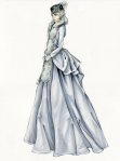 Uticaj estetike 1950-ih je očigledan i na kostimu koji Ana nosi u čajdžinici.
