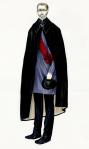 Džad Lou nosi najjednostavniji kostim, čije oštre i čiste linije odslikavaju kruti karakter lika.