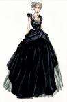 Crna balska haljina je inspirisana kreacijama Balensjage i Diora.